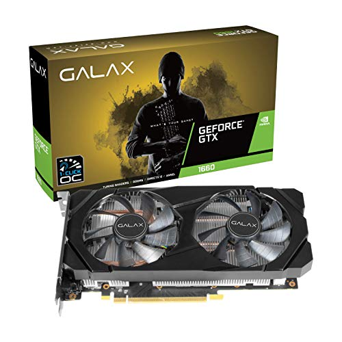 GALAX GeForce® GTX 1660 (1-Click OC) 6GB GDDR5 192-bit DP/HDMI/DVI-D Graphic Card 209
