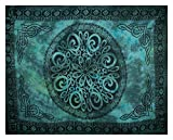 Curious Designs Sarong, Celtic Knot - Sea Green Shades, Slightly Less Than Perfect