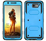 Samsung Galaxy J7 2017 Case, Heavy Duty High Impact Resistant Rugged Full-Body Shockproof Case - with Kickstand and Screen Protector for Samsung Galaxy J7 2017/J7 V/J7 Perx/J7 Sky Pro/J7 Prime (Blue)