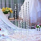 XQXCL Home Decoration DIY Wedding Decor Diamond Curtain Party Accessories Acrylic Crystal Beaded Curtain 1 M