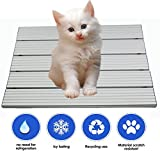 RIOGOO Pet Cooling Pad, Self Dog Cooling Mat, Aluminum Alloy Foldable Cooling Mat for Dogs and Cats(S:15.7×11.2 IN)