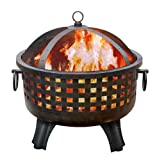 Landmann 26360 Garden Lights Savannah Firepit Antique Bronze Finish