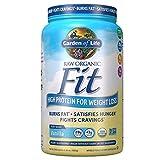Garden of Life Organic Meal Replacement - Raw Organic Fit Powder, Vanilla - High Protein for Weight Loss (28g) Plus Fiber, Probiotics & Svetol, Organic & Non-GMO Vegan Nutritional Shake, 20 Servings
