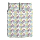 Ikea Malin Rund duvet cover and pillowcases, full/queen, multicolor