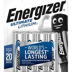 Energizer AA Ultimate Lithium Battery (Pack of 4)