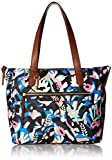 Fossil Fiona E/W Tote Bag, Black Floral,One Size