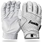Franklin Sports 2nd-Skinz Batting Gloves - White/White - Youth Small