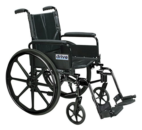Drive Medical C418ADFASV-SF Cirrus Iv Lightweight Dual Axle Wheelchair with Adjustable Arms, Silver Vein