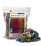 Harrisville Designs Lotta Loops 7' Standard Size Pastel Cotton Loops Makes 8 Potholders, Weaving, Crafts For Kids and Adults-Assorted Colors