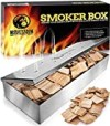 Smoker Box for Wood Chips - Use a Gas or Charcoal BBQ Grill and Still Get That Delicious Smoky Barbecue Flavored Grilled Meat - Brushed Finish Stainless Steel (Brushed Finish Stainless Steel)