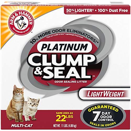 ARM & HAMMER Clump & Seal Platinum Lightweight Cat Litter, Multi-Cat, 11Lbs.