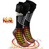 Heated Electric Warm Thermal Socks - Battery Operated Winter Foot Warmers For Adults Men & Women, Warming Socks Get Toes Warm In Cold Weather Outdoors Or Indoors - Patterns and Colors Will Vary