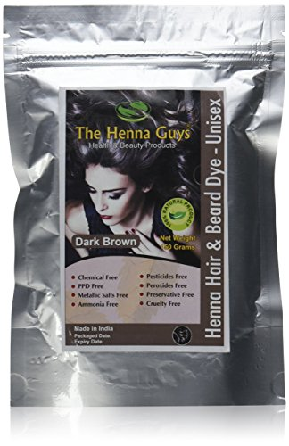 1 Pack of Dark Brown Henna Hair Color/Dye - 150 Grams - Chemicals Free Hair Color - The Henna Guys