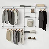 Rubbermaid Configurations Custom Closet Deluxe Kit, White, 4-8 Foot, FG3H8900WHT