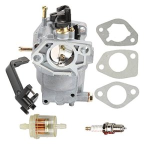 Hilom 0J58620157 Carburetor with Fuel Filter Spark Plug for Generac GP5500 GP6500 GP6500E GP7500E 389cc 8125W Jingke Huayi Kinzo Ruixing 13HP 14HP 15HP 16HP 188F 190F Portable Generator