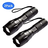 AUSPICE LED Flashlight, Tactical Flashlight 5 Lights Modes, Ultra-bright Zoom Function and IP65 Waterproof Handheld Flashlights, 18650 Bright Flashlight Perfect for Camping, Hiking & Daily Using