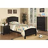 Product review for Poundex 3 Piece Kids Twin Size Bedroom Set in Rich Black Finish