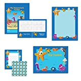 Under the Sea Classroom Theme Set - Student Certificates, Boarder Paper, Student Folders, and Incentive Sticker Charts