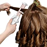 Mini Cordless Curling Iron,Leyeet USB Rechargeable Ceramic Hair Curling Wand Wet & Dry Use Travel Hair Straightener Curler for Hair Styling (Mini Cordless Curling Iron)