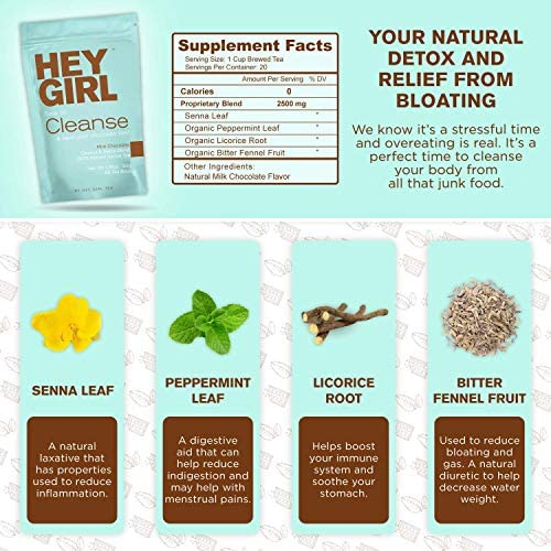 Detox Tea - Mint Chocolate Flavored Cleanse for Women with a Sweet Tooth - Teatox Reduces Bloating & Helps Your Body Stay Regular | Keep Your Colon Happy and You Feeling Healthy with Hey Girl Tea 2
