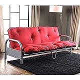 Furniture of America Ella 70' x 50' Futon Mattress in Black and Red