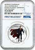 2016 CA Batman v Superman: Dawn of Justice $10 Coin #2 - 1/2 oz. Fine Silver Coin - NGC PF70 Matte FIRST RELEASES $20 PF70 NGC FIRST RELEASES