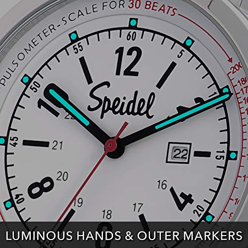 Speidel Scrub 30 Look ahead to Medical Professionals with Scrub Matching White Silicone Band, Pulsometer, Date Window, Straightforward to Learn Dial, Second Hand, Army Time for Nurses, Medical doctors, College students deal 50% off 51mJmg6RLsL