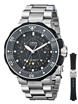 Oris Men's 76176827134SET Moon Pointer Analog Display Swiss Automatic Silver Watch