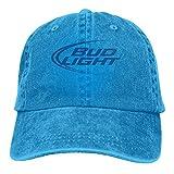 Men Women Caps Bud Light Logo Baseball Cowboy Caps Adults Adjustable Blue Cap