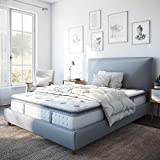 Classic Brands Mercer Pillow Top Cool Gel Memory Foam and Innerspring Hybrid 12' Mattress, Queen, White