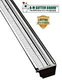 A-M Aluminum Gutter Guard 5' (100', Mill Finish)