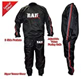 RAD Heavy Duty Sweat Suit Sauna Exercise Gym Suit Fitness Weight Loss Anti-Rip Red (2XL)