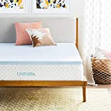 Linenspa 2 Inch Gel Infused Memory Foam Mattress Topper - Queen Size (Renewed)