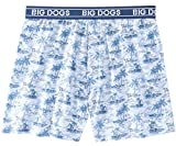 Big Dogs Dept. of Relaxation Printed Knit Boxers 4X Chambray