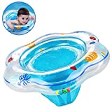 GreaSmart Baby Float Swimming Ring with Double Airbag, Pool Swim Float with Safety Seat Baby Kids Pool Bathtub Outdoor Swimming Pool Toys Accessories for Kids Toddlers of 3-36 Months (Blue)