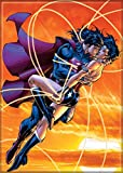 "Ata-Boy DC Comics Superman and Wonder Woman 2.5"" x 3.5"" Magnet for Refrigerators and Lockers"