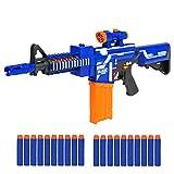 Best Choice Products Kids Soft Foam Semi-Automatic Dart Blaster Shooter Toy Gun w/ Load Cartridge, Sight Attachment, Long Distance Range, 20 Darts - Multicolor