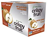 Crispy Green Freeze-Dried Fruits, Non-GMO, Gluten Free, No Sugar Added, Asian Pear, 0.36 Ounce (12 Count)