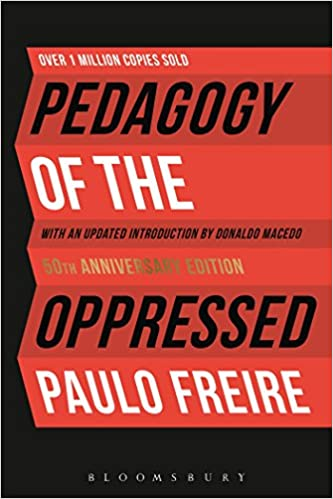 Book cover of Pedagogy of the Opressed by Paulo Freire