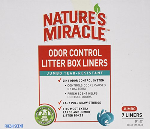 Nature's Miracle Odor Control Jumbo Litter Box Liners 1