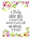 Boss Gift - A truly great boss is hard to find - Office Gift - Office Décor - Going Away Retirement Gift - Personalized - Custom Quote Print - Gift for Boss - Special gift - Work Motivational Quote.