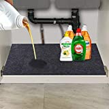 Convelife Under The Sink Mat,Kitchen Tray Drip,Premium Cabinet Liner-Absorbent/Waterproof/Reusable/Washable-Protects Cabinets,Drawers,Contains Liquids (24' x 36')