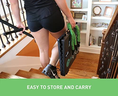 BodyBoss 2.0 - Full Portable Home Gym Workout Package + Resistance Bands - Collapsible Resistance Bar, Handles - Full Body Workouts for Home, Travel or Outside 8