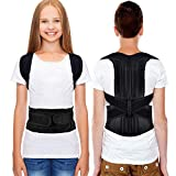 Back Posture Correction, HailiCare Full Back Support Brace Back and Shoulder Brace for Upper Lower Back Support, Brace to Relieve Slouch, B Slouch, Back Pain, Thoracic Kyphosis - Size (Waist 24'-31')