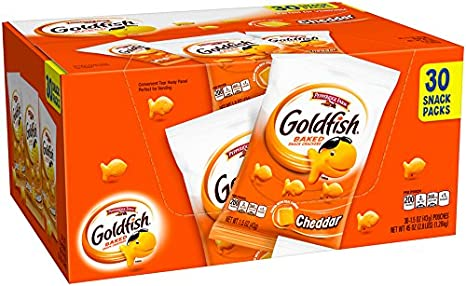 Pepperidge Farm Goldfish Crackers Cheddar, 1.5oz bags