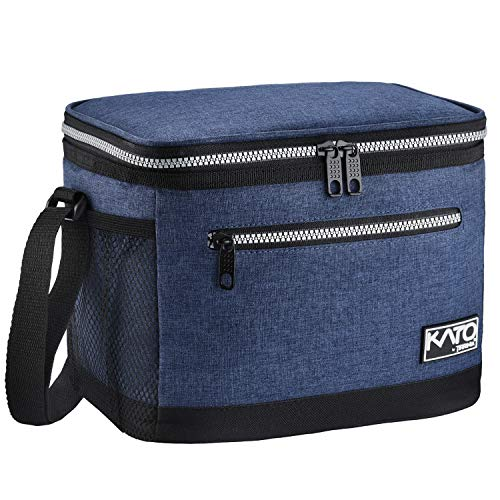 Insulated Lunch Bag for Women Men, Leakproof Thermal Reusable Lunch Box for Adult & Kids by Tirrinia, Lunch Cooler Tote for Office Work, Dark Blue