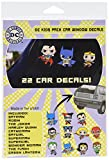 DC Comics ST DCFAM KIDSPACK Family Pack Kids Toyetics Car Window Sticker Decal