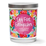 Dog Fart Extinguisher | Grapefruit, Rose, Musk | Luxury Scented Soy Funny Candles | 10 Oz. Jar Candle | Made in The USA | Decorative Aromatherapy | Dog Lover Gifts for Women | Dog Mom Gifts