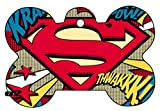Superman Supergirl Superwoman Art Logo Dog Pet Cat ID Tag Bone Shape Image Photo Personalized with Key Ring (Comic Logo)