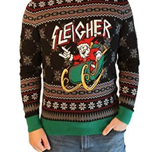 Ugly Christmas Sweater Company Men's Ugly Christmas Sweater-Sleigher Santa